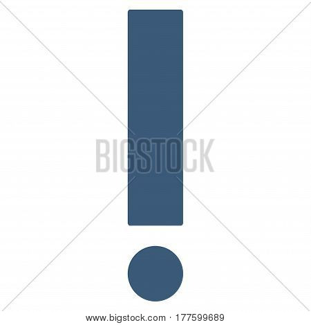 Exclamation Sign vector icon. Flat blue symbol. Pictogram is isolated on a white background. Designed for web and software interfaces.