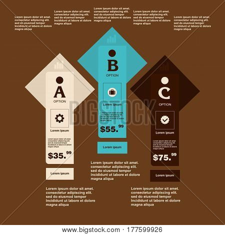 Business Infographics Number Paper Cut Tamlate