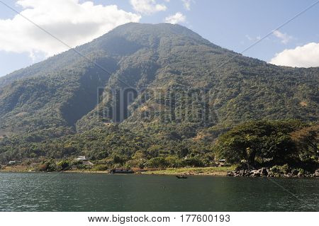 Vulcano of San Pedro on lake Atitlan Guatemala