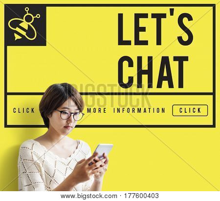 Let's Chat Communication Connection Concept