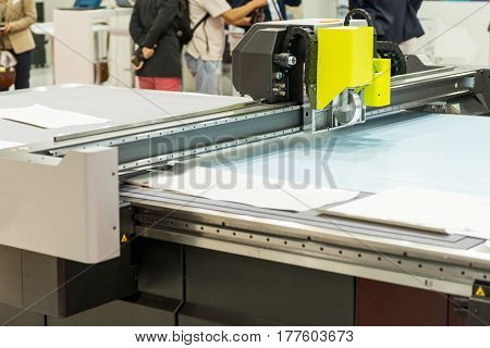 Printing Machine  In Factorywoodworking Machine In Factory, Color Image, Indoors