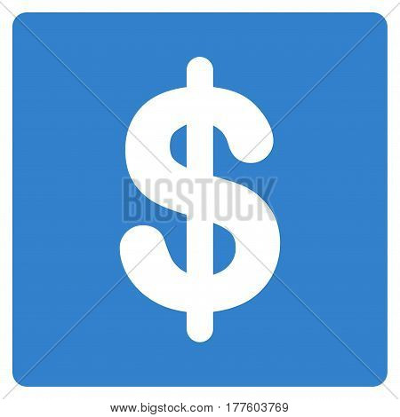 Financial vector icon. Flat cobalt symbol. Pictogram is isolated on a white background. Designed for web and software interfaces.