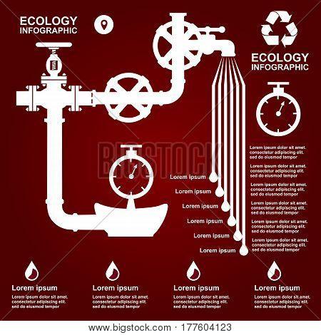 Ecology Infographic Elements On Flat Design