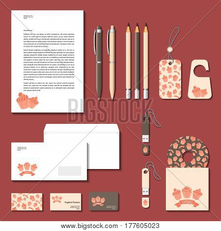 Corporate identity templates. Vector design elements for branding design.