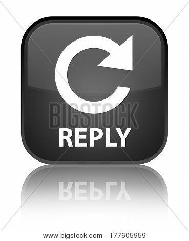 Reply (rotate Arrow Icon) Special Black Square Button