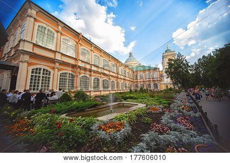 ST.PETERSBURG RUSSIA - AUGUST 04 2013: Saint Alexander Nevsky Lavra in Saint Petersburg Russia