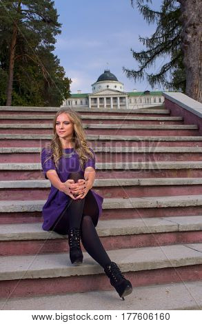 Woman On The Steps..