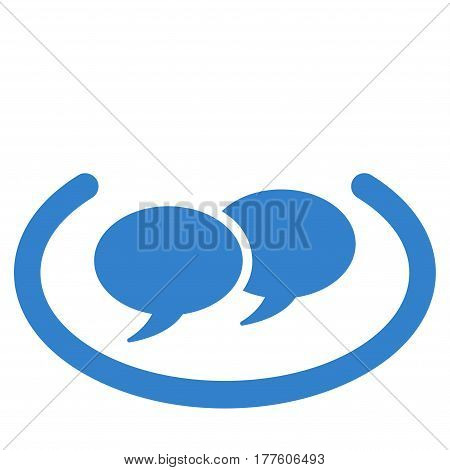 Social Networks vector icon. Flat cobalt symbol. Pictogram is isolated on a white background. Designed for web and software interfaces.