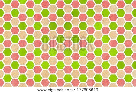 Watercolor Geometrical Comb Pattern.