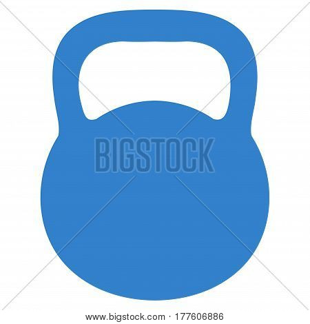 Weight Iron vector icon. Flat cobalt symbol. Pictogram is isolated on a white background. Designed for web and software interfaces.
