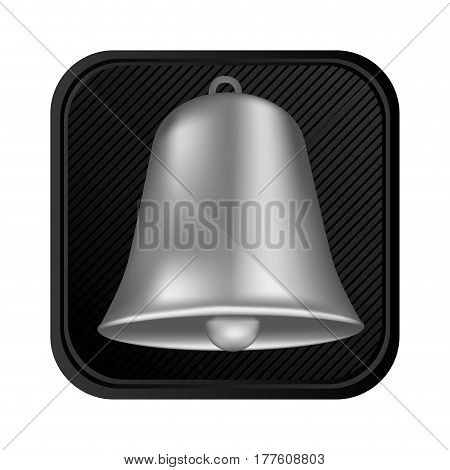 silver bell symbol icon, vector illustration design