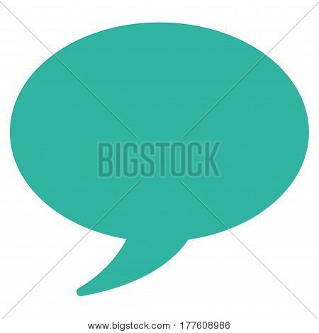 Message Balloon vector icon. Flat cyan symbol. Pictogram is isolated on a white background. Designed for web and software interfaces.