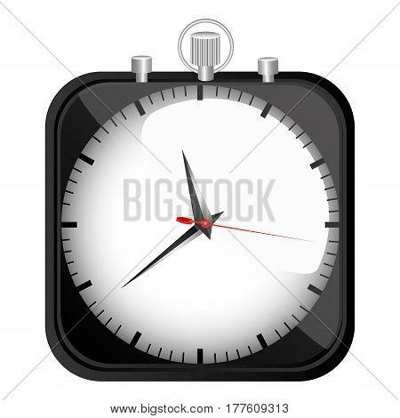 black stopwatch time icon, vector illustration design