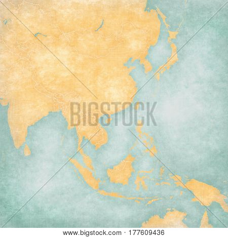 Map Of East Asia - Blank Map