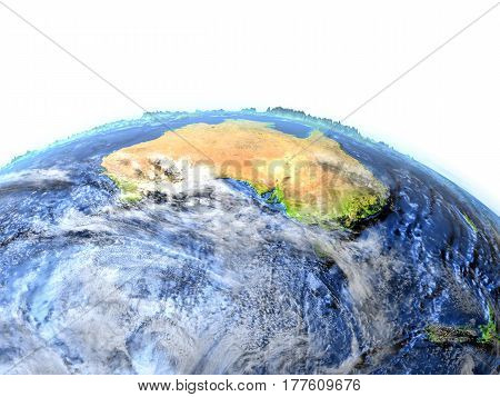 Australia And New Zealand On Earth - Visible Ocean Floor