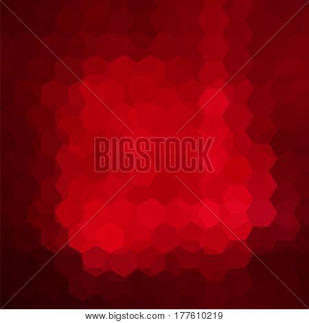 Abstract Background Consisting Of Red Hexagons. Geometric Design For Business Presentations Or Web T