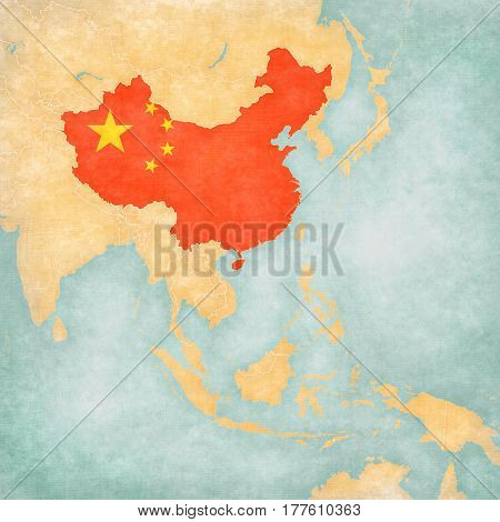 Map Of East Asia - China