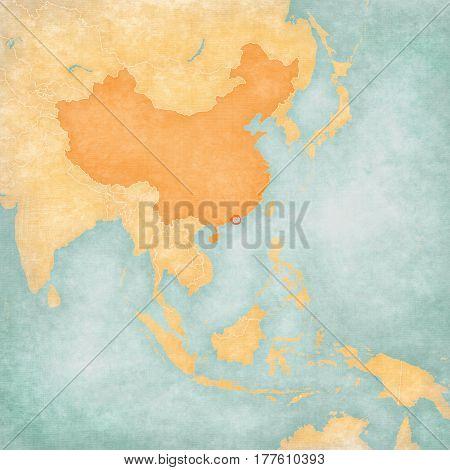 Map Of East Asia - Hong Kong