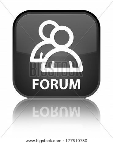 Forum (group Icon) Special Black Square Button