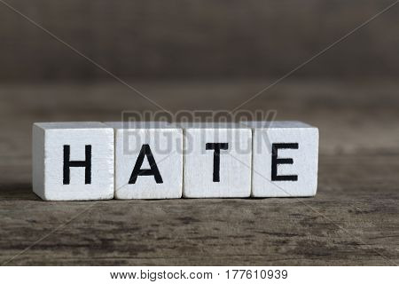 Hate, Written In Cubes