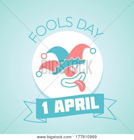 Calendar for each day on April 1. Holiday - Fools Day. Icon in the linear style
