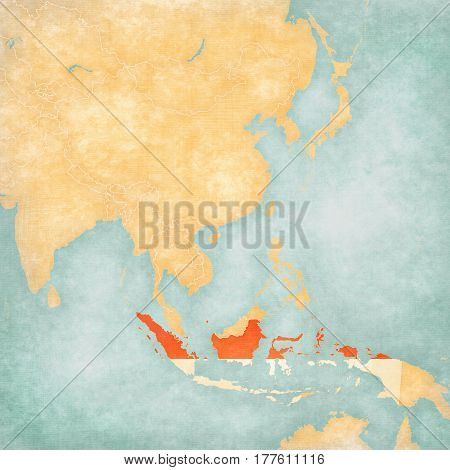 Map Of East Asia - Indonesia