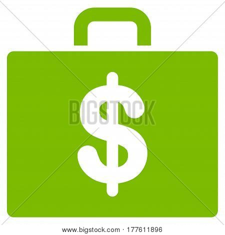 Accounting Case vector icon. Flat eco green symbol. Pictogram is isolated on a white background. Designed for web and software interfaces.
