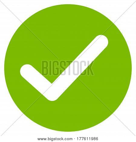 Apply vector icon. Flat eco green symbol. Pictogram is isolated on a white background. Designed for web and software interfaces.