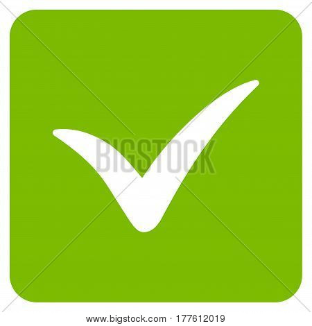 Approve Box vector icon. Flat eco green symbol. Pictogram is isolated on a white background. Designed for web and software interfaces.