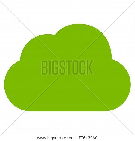 Cloud vector icon. Flat eco green symbol. Pictogram is isolated on a white background. Designed for web and software interfaces.