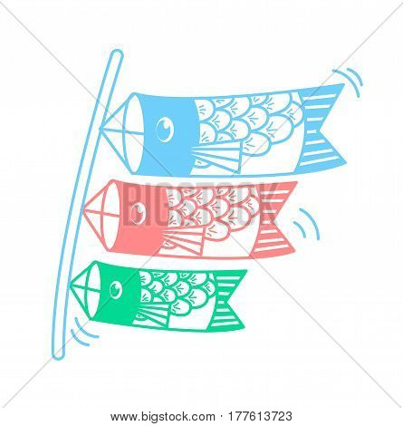 Icon Of Kites In The Form Of Fish