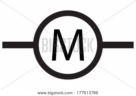 Motor electric industrial icon concept design electric electrical