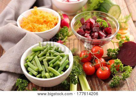 assorted fresh vegetable salad