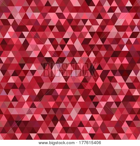 Abstract seamless mosaic background. Triangle geometric background. Vector illustration. Red, brown colors.