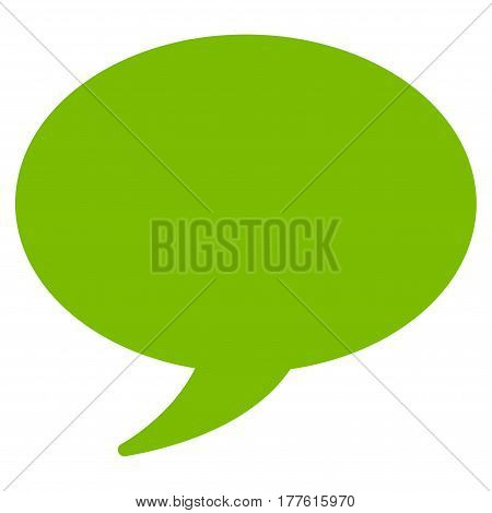 Message Balloon vector icon. Flat eco green symbol. Pictogram is isolated on a white background. Designed for web and software interfaces.