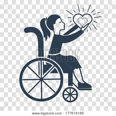 Silhouette Icon Of Disabled Persons.