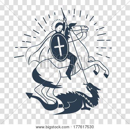 Silhouette Icon Saint Georgi