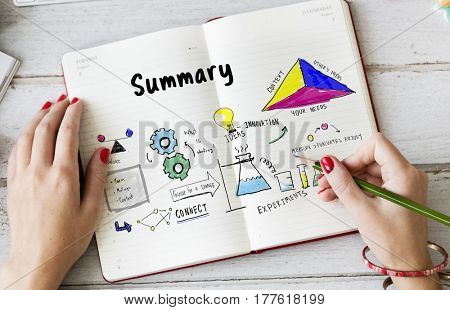 Summary strategy system diagram sketch
