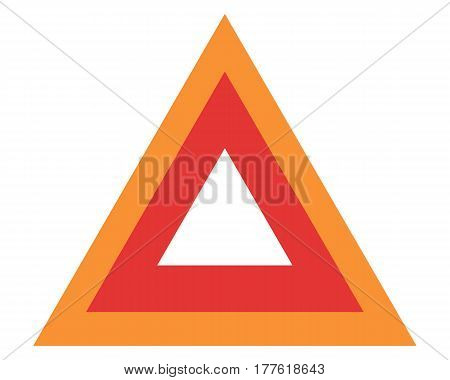 Red emergency road sign accident alert assistance break