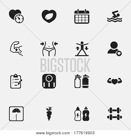 Set Of 16 Editable Lifestyle Icons. Includes Symbols Such As Profile, Strong Love, Date Plan And More. Can Be Used For Web, Mobile, UI And Infographic Design.