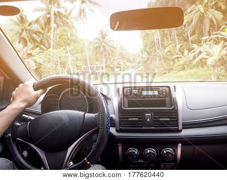 the man drive for traveling finding experience