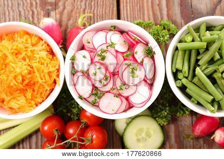 assorted vegetable salad