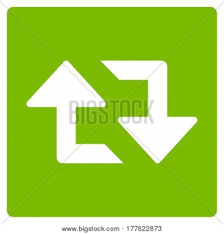 Refresh Arrows vector icon. Flat eco green symbol. Pictogram is isolated on a white background. Designed for web and software interfaces.