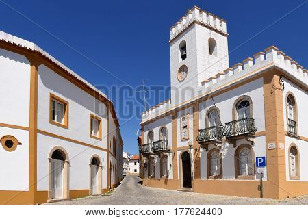 Street Anf Stately Homes, Alter Do Chao, Beiras Region, Portugal