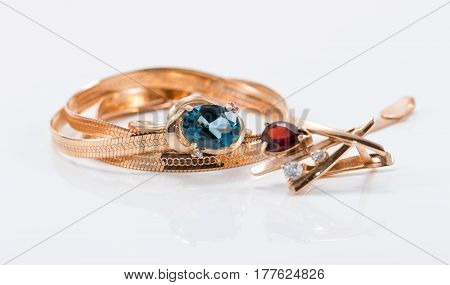 Gold And Silver Ornaments In Different Shapes
