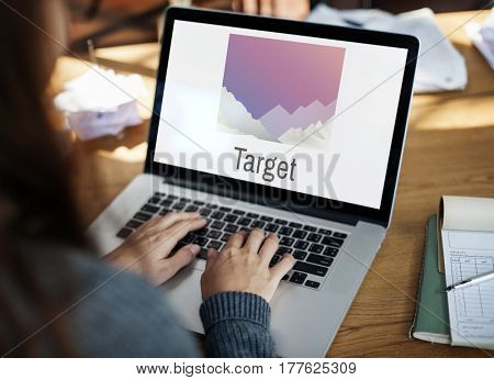 Business Computer Target Concept