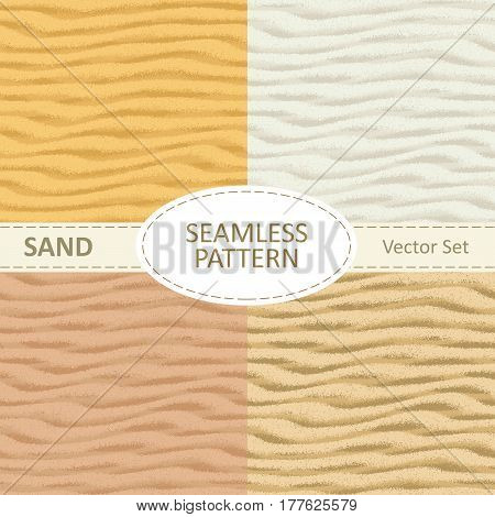 Set of vector seamless sand texture background