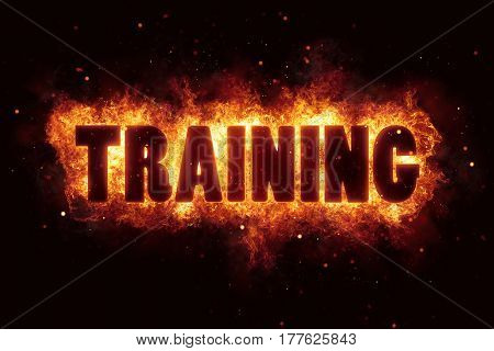 training learn sport fire burn flame text is explode explosion