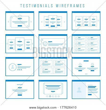 Wireframe components to build your own website mockup. You can combine them to create some unique prototypes and to build your first draft of your website design.