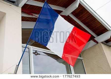 French Flag Of The Town City Hall